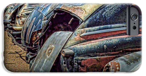 Junk Yard iPhone Cases - All in a Row iPhone Case by Ken Smith