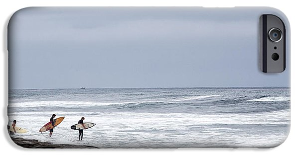 La Jolla Surfers iPhone Cases - All In iPhone Case by Peter Tellone