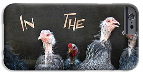 Barnyard Digital Art iPhone Cases - All in the Family iPhone Case by Lori Deiter