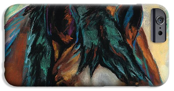 Colorful Abstract Pastels iPhone Cases - All Knowing iPhone Case by Frances Marino