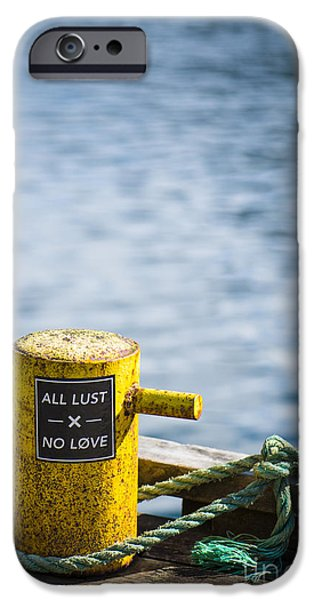 Norway iPhone Cases - All Lust x No Love iPhone Case by Anne Gilbert