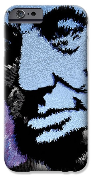 Abraham Lincoln Canvas iPhone Cases - All Men Are Created Equal iPhone Case by Robert Margetts