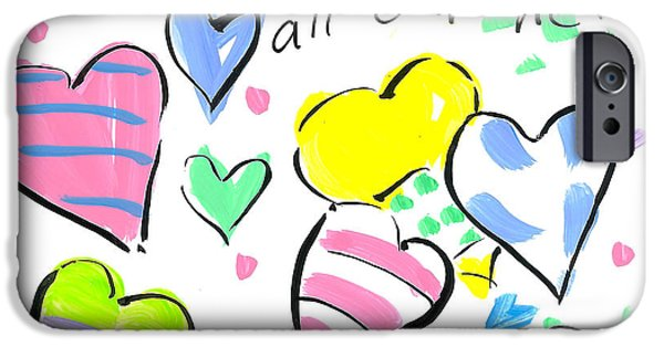 Sally Huss iPhone Cases - All Our Hearts iPhone Case by Sally Huss