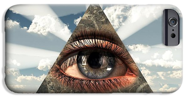 Christian Art iPhone Cases - All Seeing Eye iPhone Case by Christian Art