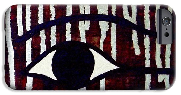 Horus Paintings iPhone Cases - All-Seeing Eye of Horus iPhone Case by Tammy Kunde