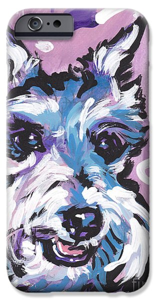 Schnauzer Puppy iPhone Cases - All Smiles Schnau iPhone Case by Lea