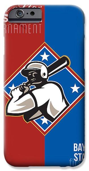 All Star Baseball Tournament Retro Poster iPhone Case by Aloysius Patrimonio
