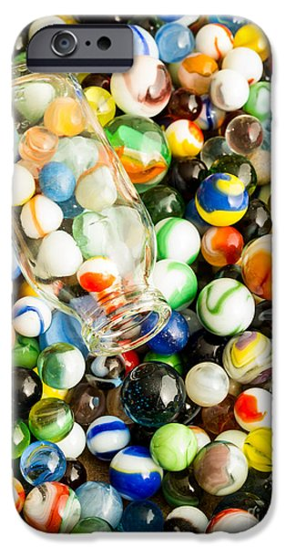All the marbles iPhone Case by Edward Fielding