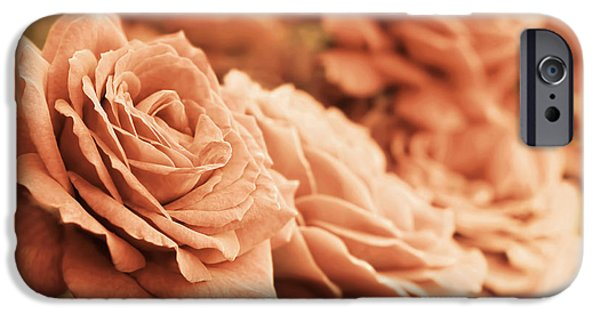 Peach Roses iPhone Cases - All the Orange Roses iPhone Case by Jennie Marie Schell
