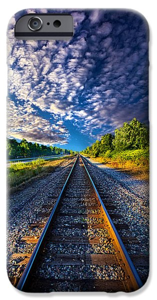 Meadow iPhone Cases - All The Way Home iPhone Case by Phil Koch