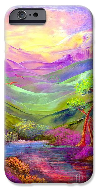 Lavender iPhone Cases - All Things Bright and Beautiful iPhone Case by Jane Small