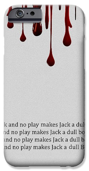 Movie Scene iPhone Cases - All Work and no Play iPhone Case by Cheryl Young
