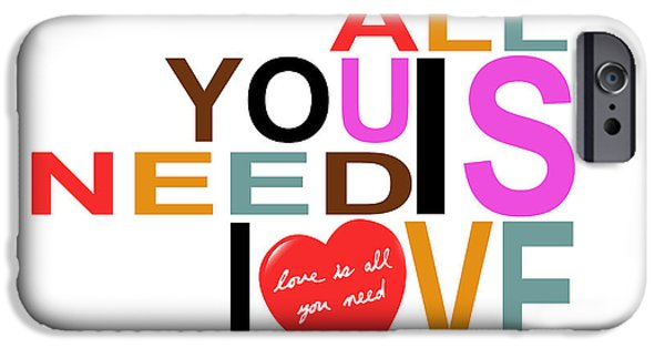 All You Need Is Love Posters iPhone Cases - All You Need Is Love iPhone Case by Mal Bray