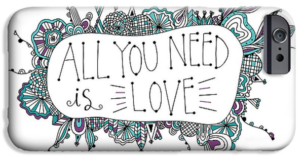 Shape iPhone Cases - All you need is love iPhone Case by Susan Claire