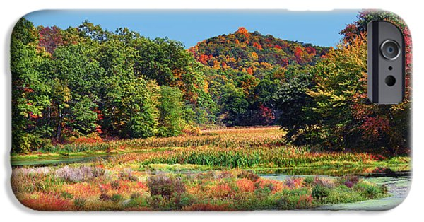 Village iPhone Cases - Allamuchy Mountains Autumn iPhone Case by Regina Geoghan