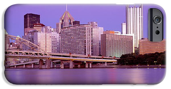 Finance iPhone Cases - Allegheny River Pittsburgh Pa iPhone Case by Panoramic Images
