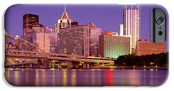 Finance iPhone Cases - Allegheny River, Pittsburgh iPhone Case by Panoramic Images