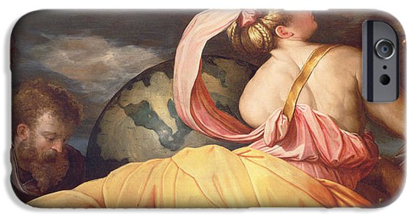 Allegory iPhone Cases - Allegory of Geography iPhone Case by Giorgio Vasari