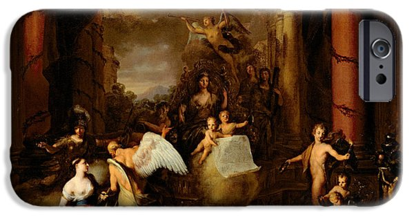 Allegory iPhone Cases - Allegory of the city of Amsterdam iPhone Case by Gerard de Lairesse