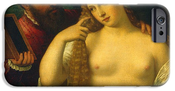 Allegory iPhone Cases - Allegory iPhone Case by Titian