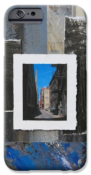Alley Mixed Media iPhone Cases - Alley 3rd Ward and Abstract iPhone Case by Anita Burgermeister