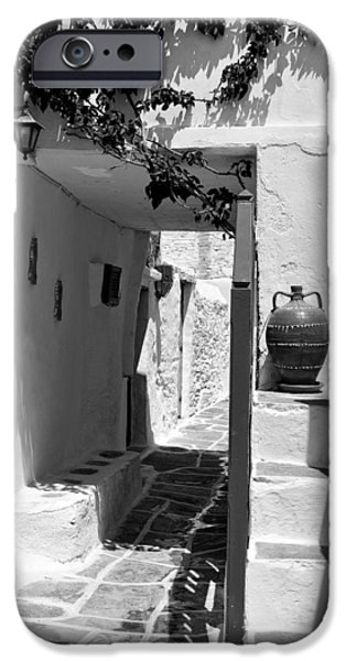 Alley in Kastro village iPhone Case by George Atsametakis