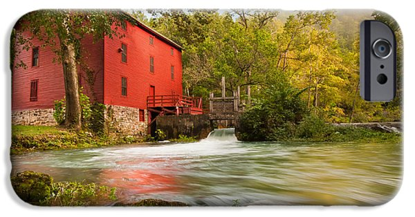Grist Mill iPhone Cases - Alley Spring Mill iPhone Case by Gregory Ballos