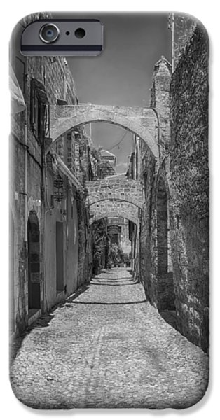 Rhodes iPhone Cases - Alleys of Rhodes Greece iPhone Case by Mountain Dreams