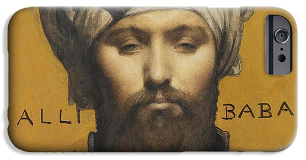 Baba Paintings iPhone Cases - Alli Baba iPhone Case by Louis Weldon Hawkins