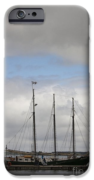 Yorktown Virginia iPhone Cases - Alliance Charter Schooner iPhone Case by Teresa Mucha