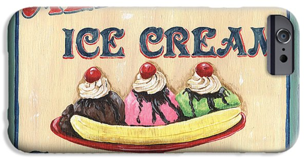 Sign iPhone Cases - Allies Ice Cream iPhone Case by Debbie DeWitt