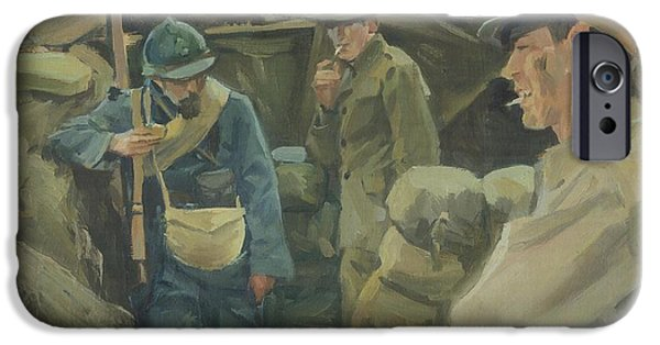 World War One Paintings iPhone Cases - Allies iPhone Case by Marcus Pierno