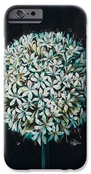 Fantasy Realistic Still Life iPhone Cases - Allium iPhone Case by Lynette Yencho