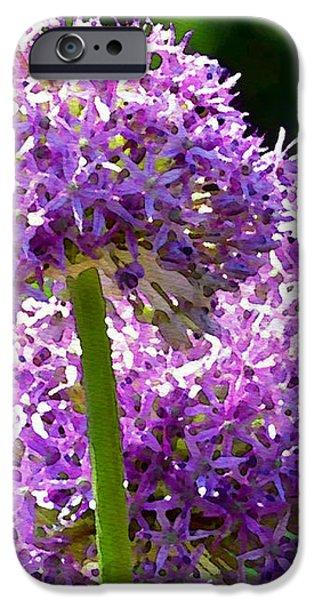Allium series - Bright Light iPhone Case by Moon Stumpp