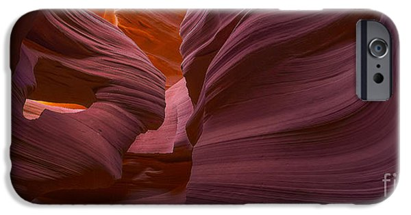 Red Rock iPhone Cases - Alluring Beauty Panoramic iPhone Case by Marco Crupi