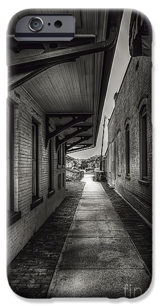 Overhang iPhone Cases - Alley to the Trains iPhone Case by Marvin Spates
