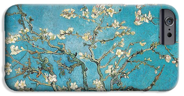 Plant iPhone Cases - Almond branches in bloom iPhone Case by Vincent van Gogh