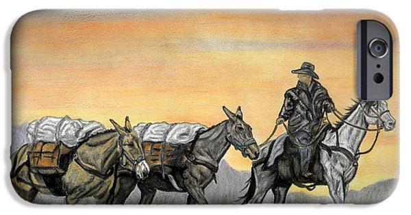 Horse iPhone Cases - Almost to Camp iPhone Case by Melissa Fuller