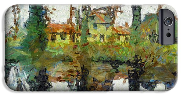 Milton Keynes iPhone Cases - Alms Cottages Linford iPhone Case by Hoetmer Art
