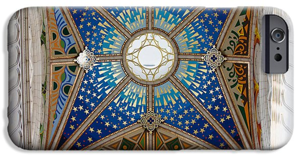 Allegoric iPhone Cases - Almudena Cathedral Dome Ceiling iPhone Case by Artur Bogacki