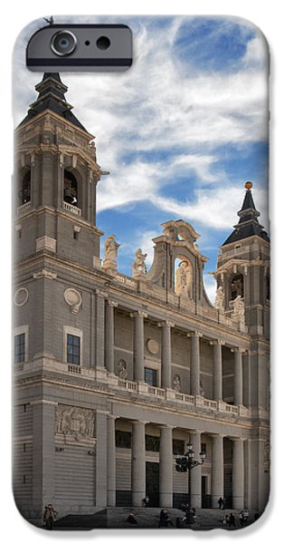 Santa iPhone Cases - Almudena Cathedral iPhone Case by Joan Carroll