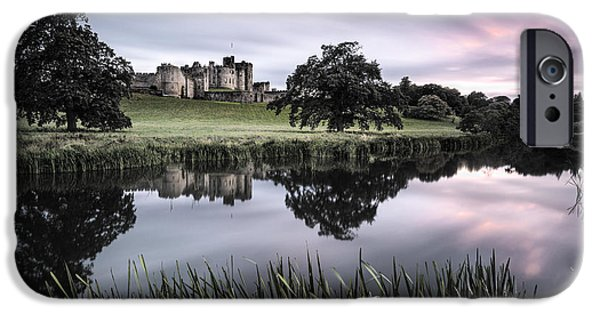 Dave iPhone Cases - Alnwick Castle Sunset iPhone Case by Dave Bowman