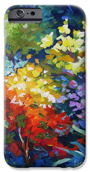 Abstract Expressionist iPhone Cases - Aloe iPhone Case by John Clark