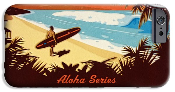 Series iPhone Cases - Aloha Series 1 iPhone Case by Cheryl Young