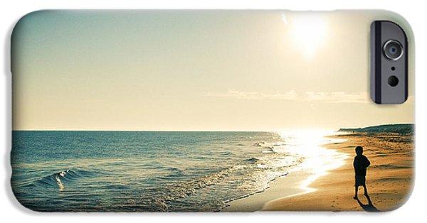 Surf Lifestyle Photographs iPhone Cases - Alone iPhone Case by Benoit Beauregard