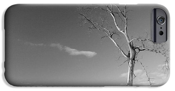Michael iPhone Cases - Alone - BW iPhone Case by Wayne Moran