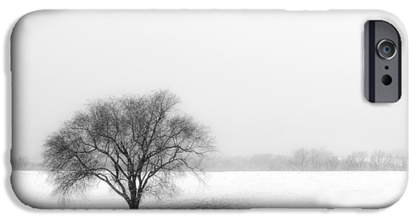 Snow Scene iPhone Cases - Alone iPhone Case by Don Spenner