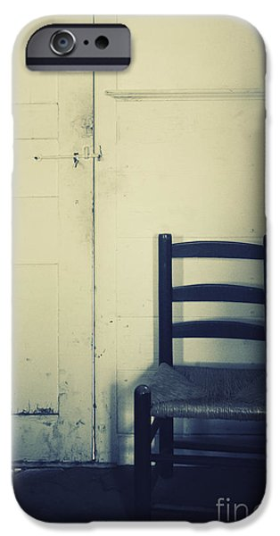 Interior Still Life iPhone Cases - Alone in a Room iPhone Case by Margie Hurwich