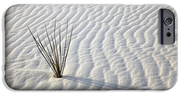 White Sand iPhone Cases - Alone in a Sea of White iPhone Case by Mike  Dawson