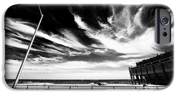 Asbury Park iPhone Cases - Alone in Asbury Park iPhone Case by John Rizzuto